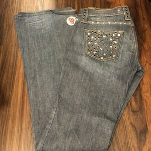 For marina Cristal studded jeans